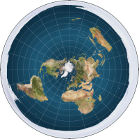 """Fig. 1. A modern flat earth map (""""A very common map created by our Society for use in online materials."""") [https://theflatearthsociety.org/home/index.php/featured/maps]"""