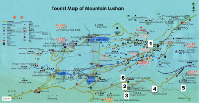 Mount Lu Day 6 Map 180320